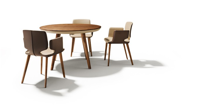 Eetkamer Draaistoel : Round Dining Table